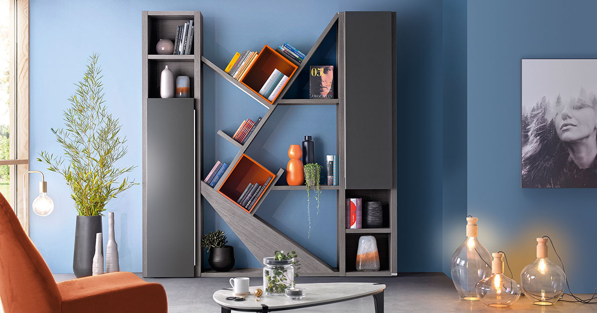 KILCRONEY_FURNITURE_LIVING_Preface-Grey-Bookcases-and-Storage-with-coffee-table