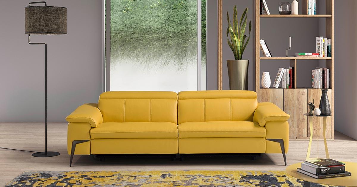 KILCRONEY_FURNITURE_SOFAS_MARGARET-Yellow-Leather-4-seater-sofa
