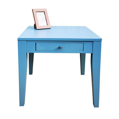 Blue-Painted-Table-one-drawer
