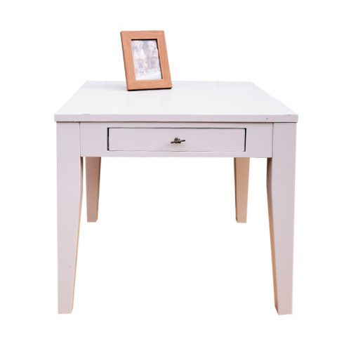 Ecru-Painted-Table-one-drawer