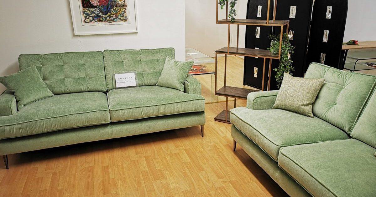 Pale Green Sofa